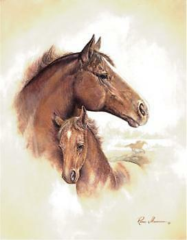 4 Horse Art Prints Mare Pictures Foal Posters Home Decor Interiors on Rummage