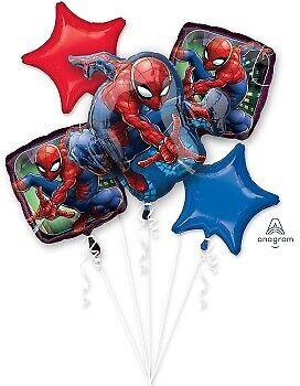 Spider Man Foil Balloon Bouquet 5, Anagram  Free - Balloon Spider