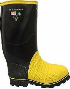 SIZE 11 VIKING STEEL TOE RUBBER  BOOTS