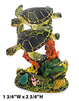 Penn Plax Swimming Sea Turtle Aquarium Decor Small