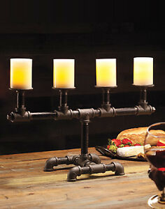VINTAGE INDUSTRIAL DECOR CANDELABRA