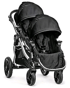 City select double stroller with second seat$899
