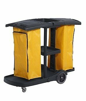 Commercial Housekeeping Janitorial Service Cart With 2 Caddies