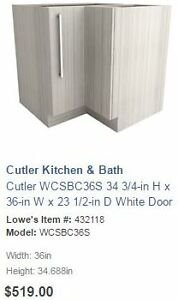 Cutler White Chocolate Corner Unit with Lazy Susan Kitchener / Waterloo Kitchener Area image 1