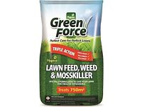 Hygeia Greenforce Lawn Weed and Feed Fertiliser with Moss killer, covers 750sq.m