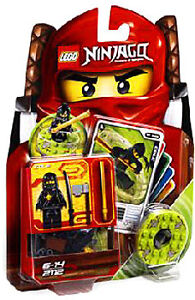 LEGO NINJAGO 2112 NINJAGO COLE SPINNER SET MINI FIGURE CARDS BRAND NEW