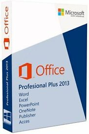 GENUINE MICROSOFT OFFICE SUITE 2013 PRO PLUS NEW ON ORIGINAL MICROSOFT DISC WITH LICENCE FOR 3 USERS