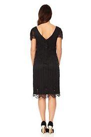 Black Downton Abbey Flapper / Great Gatsby Embellished Dress
