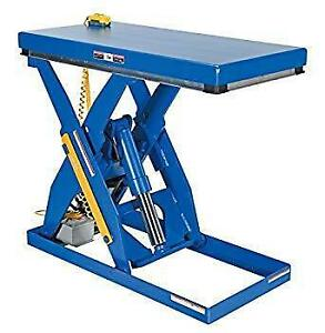 ELECTRIC HYDRAULIC SCISSOR LIFT TABLE - 24W X 48L - 3,000 LBS CAPACITY
