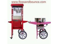 Candyfloss machine Popcorn machine Bouncy castles Chocolate fountain. London hire £60