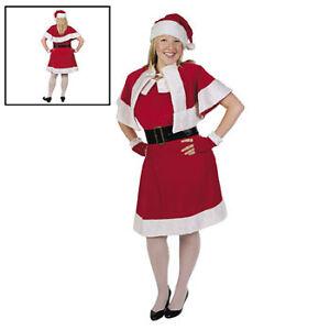 Mrs-Santa-Claus-Clause-Dress-Plus-Size-Suit-Adult-Costume-5-PC-Christmas
