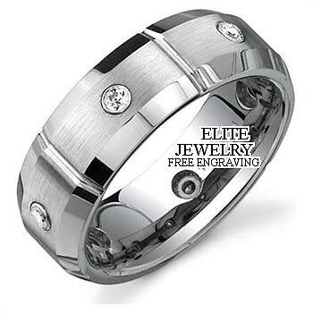 details about 10k white gold mens diamond wedding bands ring 7mm - Mens Diamond Wedding Rings White Gold