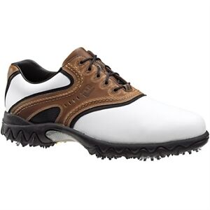 FOOTJOY-CONTOUR-GOLF-SHOES-CLOSEOUT-WHITE-BROWN-54024-NEW-MENS