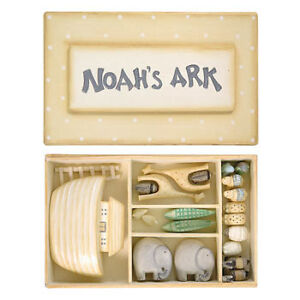 EAST OF INDIA MINI NOAH'S ARK SET CHRISTENING GIFT NEW BABY KEEPSAKE GIFT IDEA
