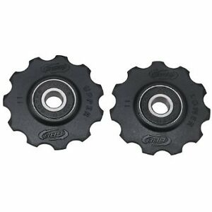 BBB-BLACK-ROLLERBOYS-BDP02-JOCKEY-WHEELS-COMPATIBLE-WITH-SHIMANO-9-10-SPEED-NEW