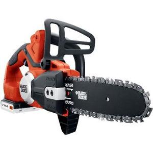 Black-Decker-20V-Max-Cordless-Lithium-Ion-Chain-Saw-Kit-LCS120-NEW