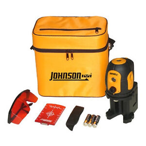Johnson Self Leveling 5 Beam Dot Laser Level Acculine PRO Model 40 6680