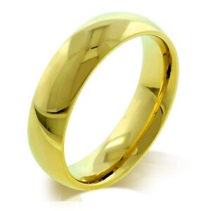 Mens Womens 14K Yellow Gold GP 5mm Band Wedding Eternity Anniversary Ring Sz 11