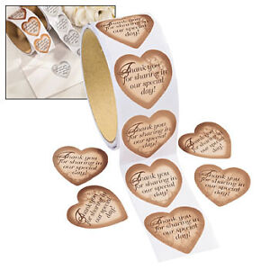 Gold-Heart-Roll-Stickers-1-ROLL-OF-100-STICKERS-WEDDING-9-1263