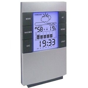 Deluxe Weather Station With Alarm Clock--DESKTOP COMPACT WEATHER STATION  NEW