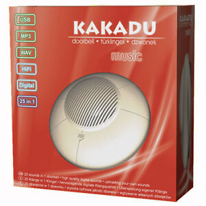 KAKADU Music MP3 & USB Doorbell  25 Amazing Melodies Rock'n'Roll DOOR BELL CHIME