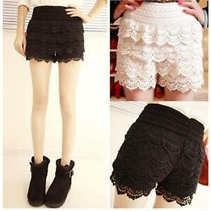 HOT-New-Sexy-Fashion-Mini-Lace-Tiered-Short-Skirt-Under-Safety-Pants-Shorts