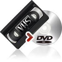 Need your VHS Tapes put onto DVD? Fast turn around time.