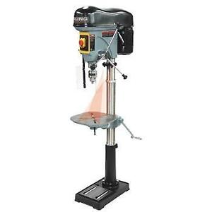 "17"" Long stroke drill press with safety guard - King KC-119FC-LS"