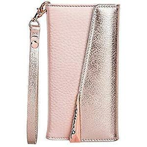 Case-Mate iPhone 8 Case - WRISTLET FOLIO - Premium Pebbled Leather - Protective Design for Apple iPhone 8 - Rose Gold