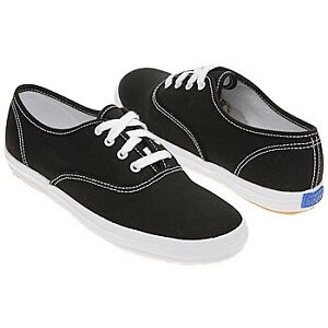 BARELY WORN BLACK KEDS!! 10/10 CONDITION!!