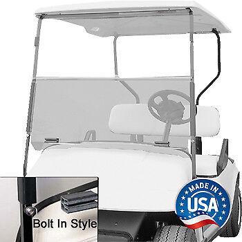 EZGO TXT (94.5-13) Clear Bolt-Style Fold Down Golf Cart Windshield - US Made