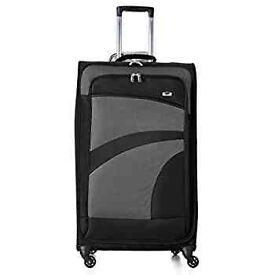 "Aerolite Large 29"" Super Lightweight 4 Wheel Spinner Check-In Hold Luggage Suitcase (Black/Grey)"