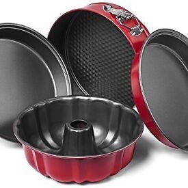 Elite Kitchenware 4 Piece Nonstick Cake Pans Set with 9 Inch Round Cake Pans