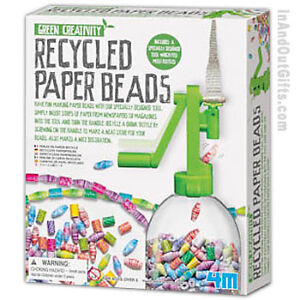 Recycled Paper Beads Green Creativity 4612 4M Toysmith Christmas Gift Toy Craft