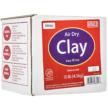 10lb White Air Dry Clay - Dry Clay