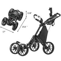 Caddytek One-Click-Folding 4-Wheel Golf Push Cart