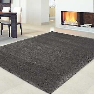 Dark Brown Shag Rug