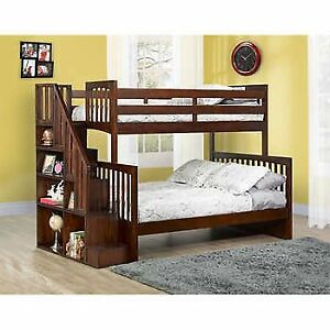 Like new bunk bed! Double + single beds with pristine mattresses