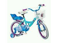 Disney Frozen Elsa Bike 16 Inch 5 years and over with helmet