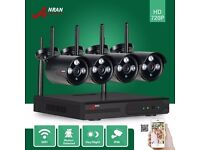 Wireless Plug Play Waterproof Outdoor HD Wifi IP Camera Video Security CCTV System kit