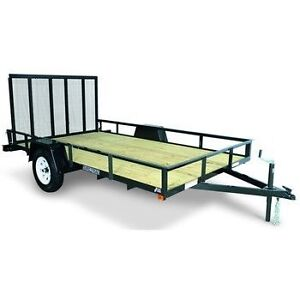 5x8 steel trailer! with ramp!