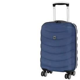 IT luggage Navy Wave Glider 8 Wheels Cabin Suitcase.
