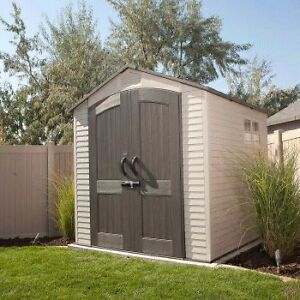 Lifetime's 7-foot wide Outdoor Storage Sheds
