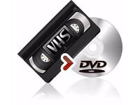 TRANSFER YOUR OLD VHS TAPES TO DVD FROM ONLY £6.99