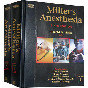 Miller's Anesthesia (2 Volume Set) Edition 6 Medical Books