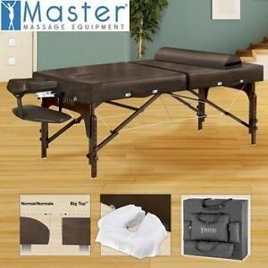 "NEW MASTER MASSAGE TABLE 31"" PORTABLE SUPREME LX - BROWN THERAPY MASSAGES TABLES FITNESS SPA SPAS 108394248"