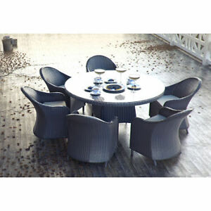 Marbella Round Dining Set with 4, 5 or 6 Chairs *IN 3 COLORS*