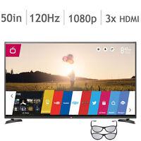 Télévision DEL 50'' 50LB6500 1080p 120hz NEUF Smart Wifi 3D Web