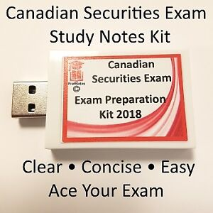 Canadian Securities Cerification (CSC) Exam 2017 & 18 Complete S