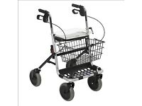 4 wheel rollator with seat and basket
